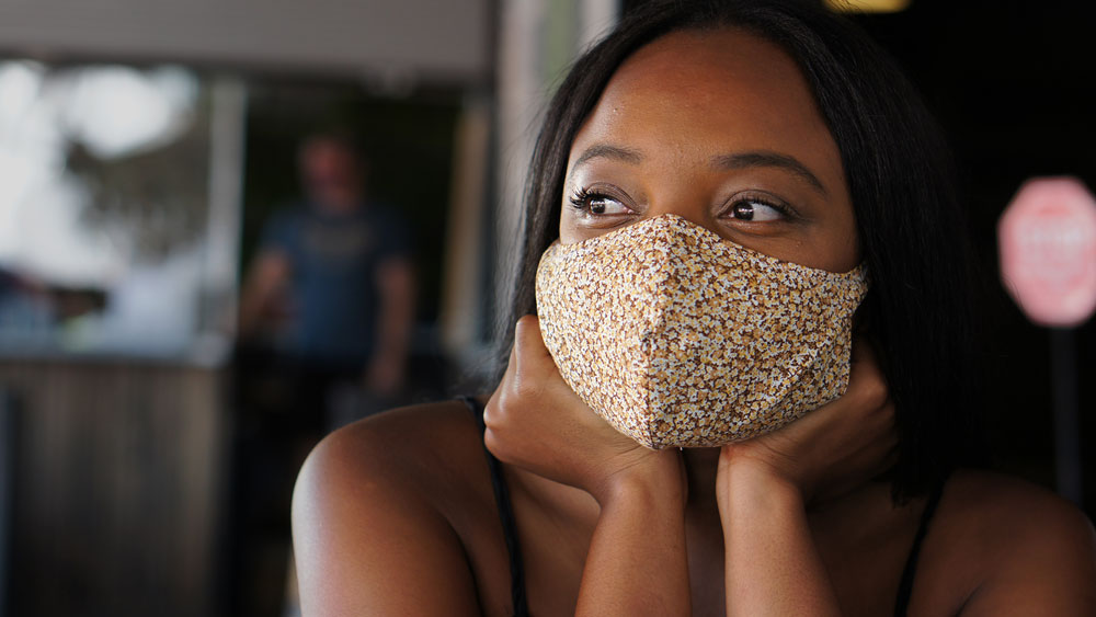 Women wearing best design coronavirus face mask | Out and About Supply